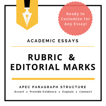 Essay Writing - APEC Paragraph Structure - Rubric
