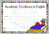 Academic Excellence in English