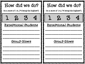 Academic Feedback Forms for Literature Circles and Group Activities