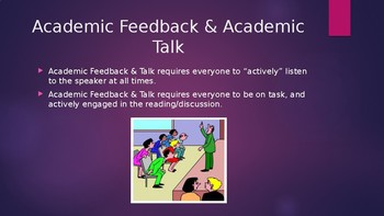 Academic Feedback & Accountable Talk for Students