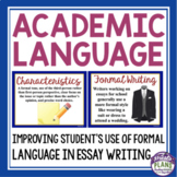 FORMAL ACADEMIC WRITING PRESENTATION, HANDOUTS, & ACTIVITY