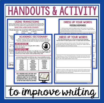 FORMAL ACADEMIC WRITING PRESENTATION, HANDOUTS, & ACTIVITY