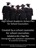 Academic High School Action Plan for Counselors - 1 Page