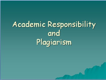 Academic Honesty and Plagiarism