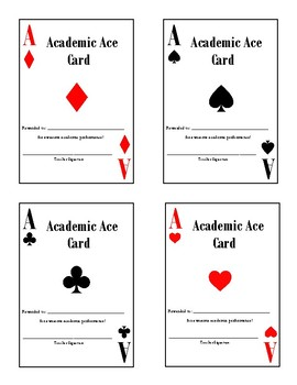 Academic Incentive Cards
