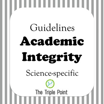 FREE: Academic Integrity guidelines (science specific)