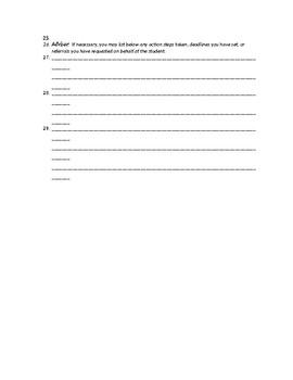 Academic Intervention Assessment Form