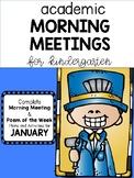 Academic Kindergarten Morning Meeting JANUARY