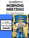 Academic Kindergarten Morning Meeting JANUARY