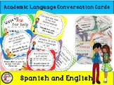 Academic Language Cards - English & Spanish