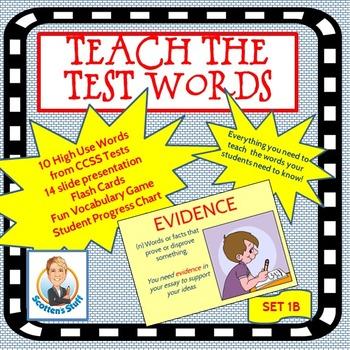 Academic Language Common Core Words Set 1B