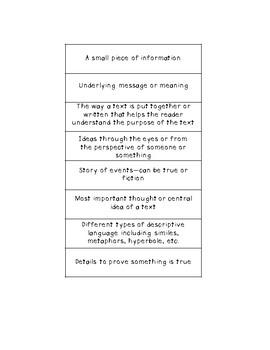 Academic Language: Definition Matching