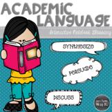 Academic Language Glossary