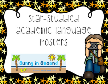 Academic Language - Hollywood Themed Bulletin Board