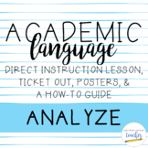 Academic Language Lesson {Analyze}