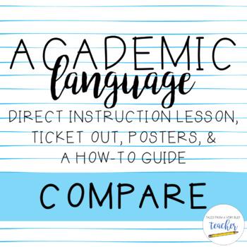 Academic Language Lesson {Compare}