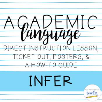 Academic Language Lesson {Infer}
