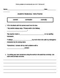 Academic Language Practice Sheet 2