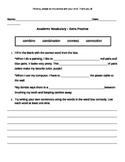 Academic Language Practice Sheet