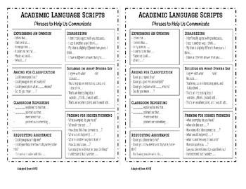 Academic Language Scripts