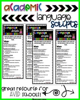 Academic Language Scripts