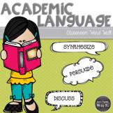 Academic Vocabulary Word Wall: English Language Arts