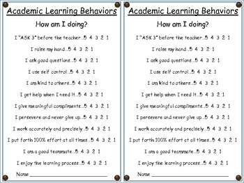 "Academic Learning Behaviors Posters ""Plus"" Rainforest Theme"