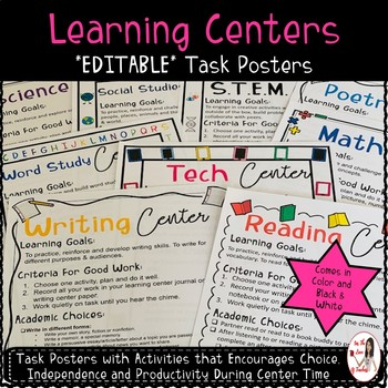 Academic Learning Centers Task Cards