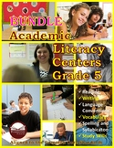 Academic Literacy Centers Grade 5 BUNDLE