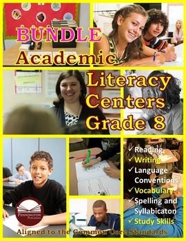 Academic Literacy Centers Grade 8 BUNDLE