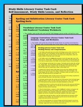 Academic Literacy Centers Grade 5 FREE UNIT