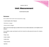 Academic Math 10 Measurement Unit Worksheet bundle (Editable)