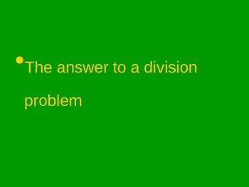 Academic Math Words