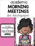 Academic Morning Meeting APRIL