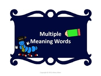 Academic Multiple Meaning Words - Common Core Aligned