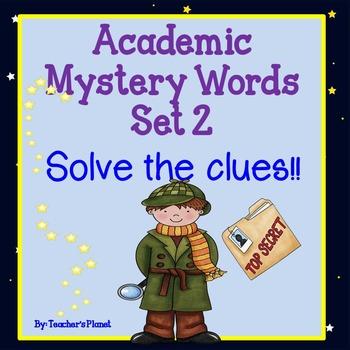 Academic Mystery Words Set 2