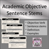 Academic Objective Sentence Stem Cards