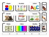 Academic Photo Vocabulary AAC Choice Book