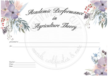 Academic Performance in Agriculture Theory