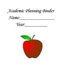 Academic Planning Binder