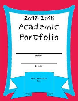 Homeschool Academic Portfolio 2017-2018 Red/Blue