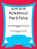 Homeschool Academic Portfolio 2017-2018 Red/Blue