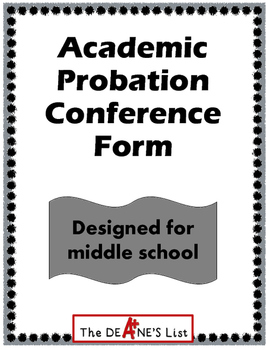 Academic Probation Conference Form