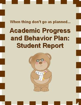 Academic Progress and Behavior Report
