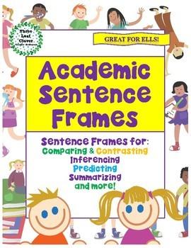 Academic Sentence Frames - ESL ENL EFL