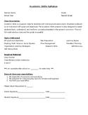 Academic Skills Syllabus (IEP resource class)