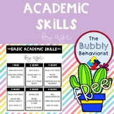 Academic Skills by Age Handout
