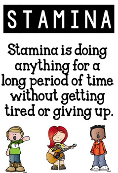 Academic Stamina Poster