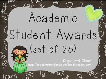 Academic Student Awards (Set of 25)