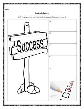 Academic Success worksheet